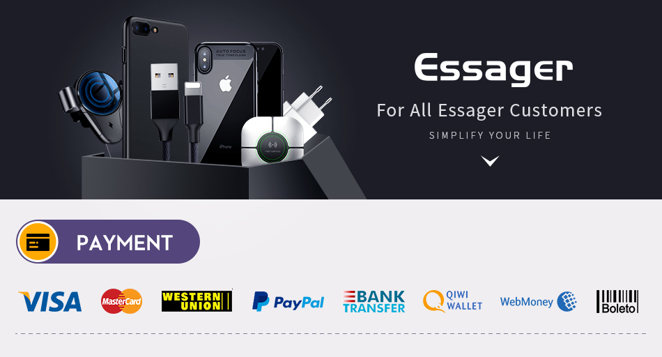 Essager 10000mAh Mini Power Bank 10000 Quick Charge 3.0 Powerbank For iPhone 11 Pro Max USB PD Portable External Battery Charger 14