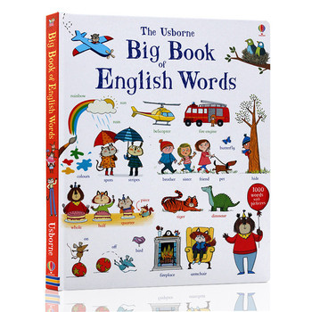 New Usborne Big Book of English Words learning famous picture borad book for kids boys girls gifts Books early education LW017