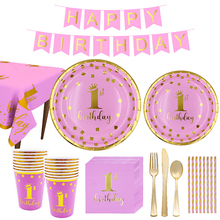 Boys Girls Paper Happy Birthday Disposable Party Tableware Supplies