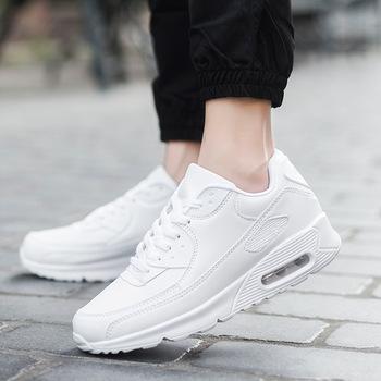 2021 skórzane damskie buty sportowe z amortyzacją damskie tenisowe buty sportowe męskie białe koszyki Femme Sneakers Sneakers Women tanie i dobre opinie Akexiya CN (pochodzenie) oddychająca zbalansowane ANTYPOŚLIZGOWE Mocne lekka waga Średnia (B M) PŁÓTNO RUBBER Sznurowane