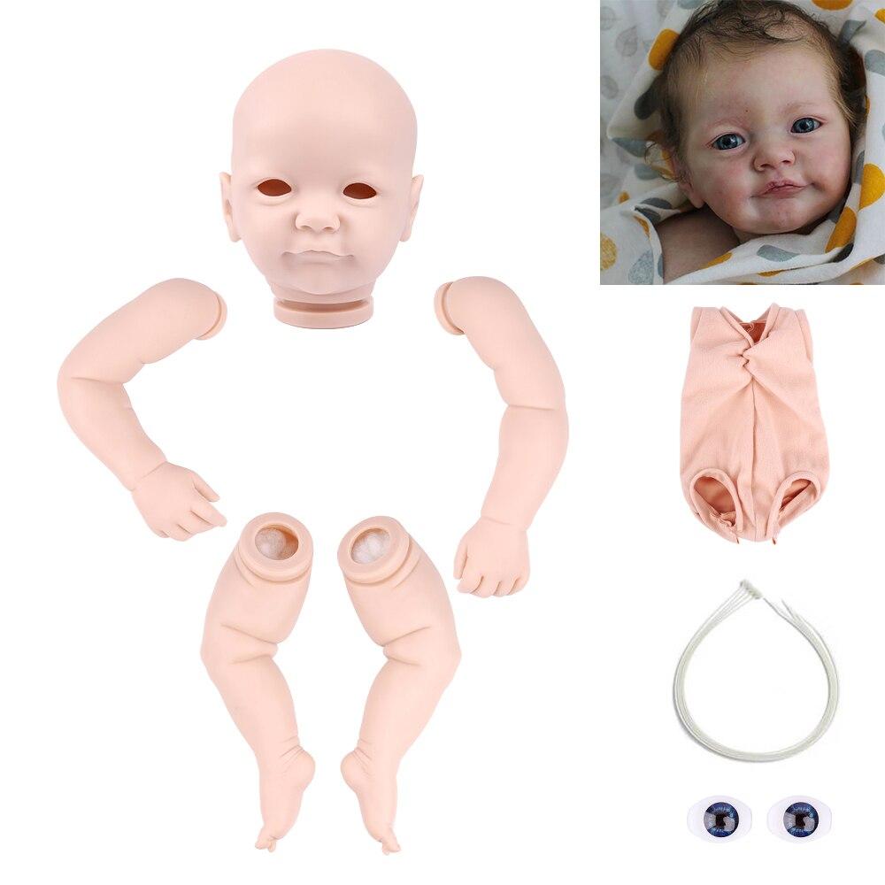 Rsg 22 Polegada realista recém nascido bebe renascer tobiah tecido recém nascido unpainted inacabado boneca peças diy kit de boneca em branco