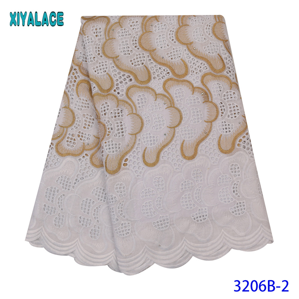 Dry Lace Fabrics High Quality Cotton Lace Fabric 2020 New Fabric Lace Swiss Voile Lace Fabric For Dresses KS3206B