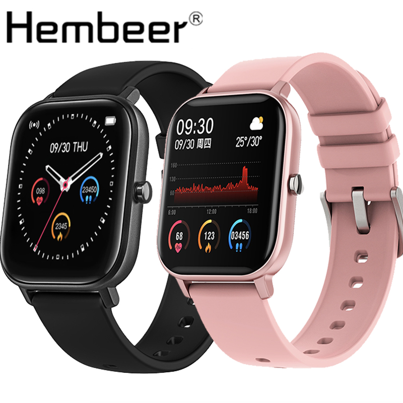 Hembeer P8 1 4 inch Smart Watch Men Full Touch Fitness Tracker Blood Pressure Smart Clock Women GTS Smartwatch for Xiaomi iphone