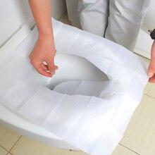 10 шт одноразовое покрытие на сиденье унитаза Водонепроницаемая