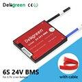 6S 24V BMS 15A 20A 30A 40A 50A 60A pour 3.7V lithium 18650 Li ion LiNCM li polymère batterie pour Scooter avec balance|Batterie Accessoires| |  -