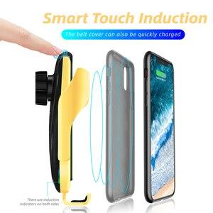 Image 3 - อัตโนมัติ 10W Wireless Charger ประเภท C Huawei mate30 Pro สำหรับ Samsung S10 + Qi อินฟราเรดเหนี่ยวนำรถผู้ถือโทรศัพท์