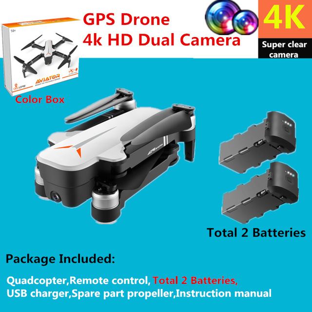 GPS Drone 4k HD Dual Camera Brushless quadcopter 5G WiFI Drone GPS Smart Follow Selfie Dron Rc Helicopter Professional Drone Toy