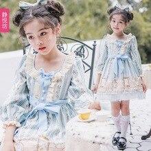 Original Spanish skirt children Lolita children's clothing lolita dress Lolita girls long sleeve OP dress c plante 4 spanish pieces op 53