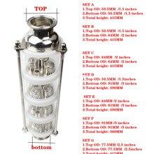 Bolha de cobre coluna de Destilação com 4 seções para destilador coluna De Vidro
