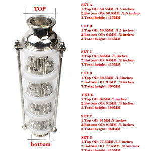 Image 1 - copper bubble Distillation column with 4 sections for distiller Glass column