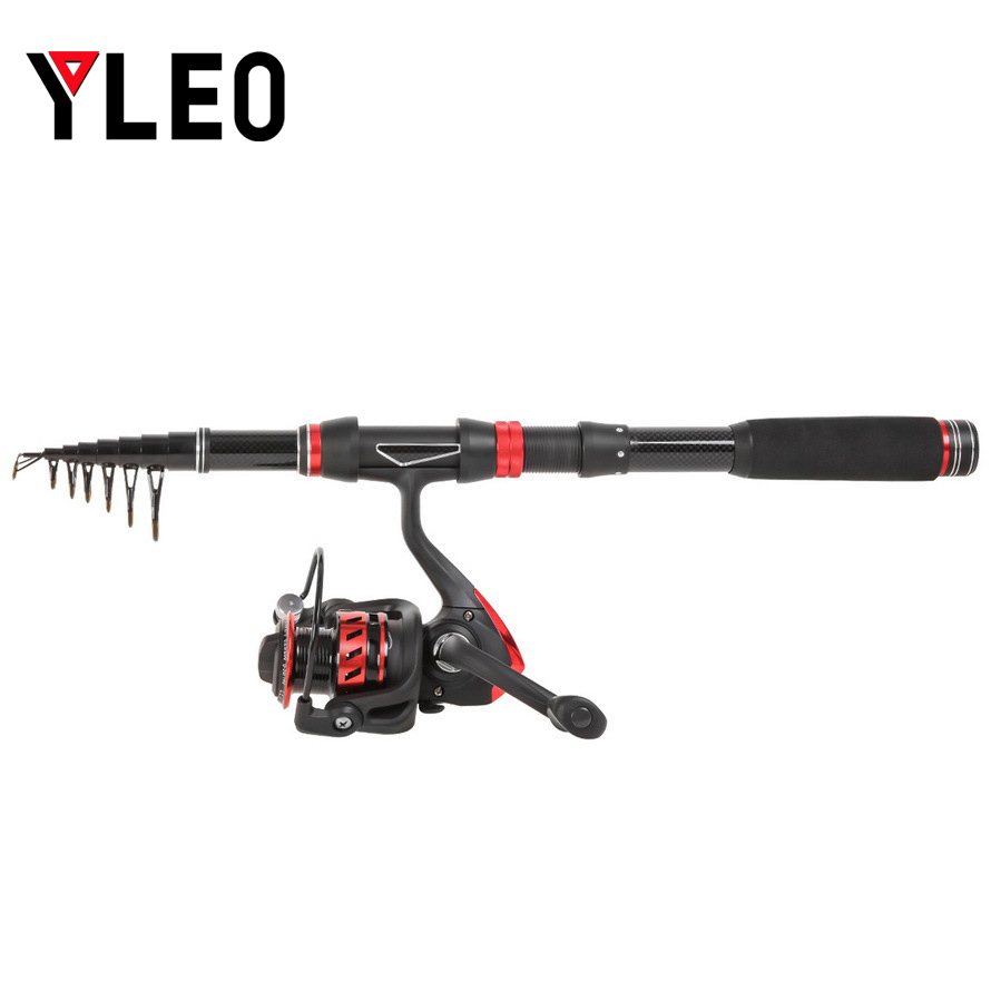 YLEO 1 8M 2 1M 2 4M 2 7M 3 0M Portable Telescopic Fishing Rod Glass Fiber Fishing Pole Travel Sea Fishing Spinning Rod in Fishing Rods from Sports Entertainment