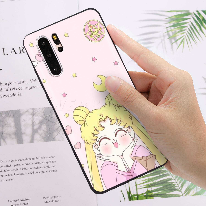 Webbedepp סיילור מון חמוד מקרה עבור Huawei P8 P9 P10 P20 P30 לייט פרו P חכם Z 2019 2019 מיני