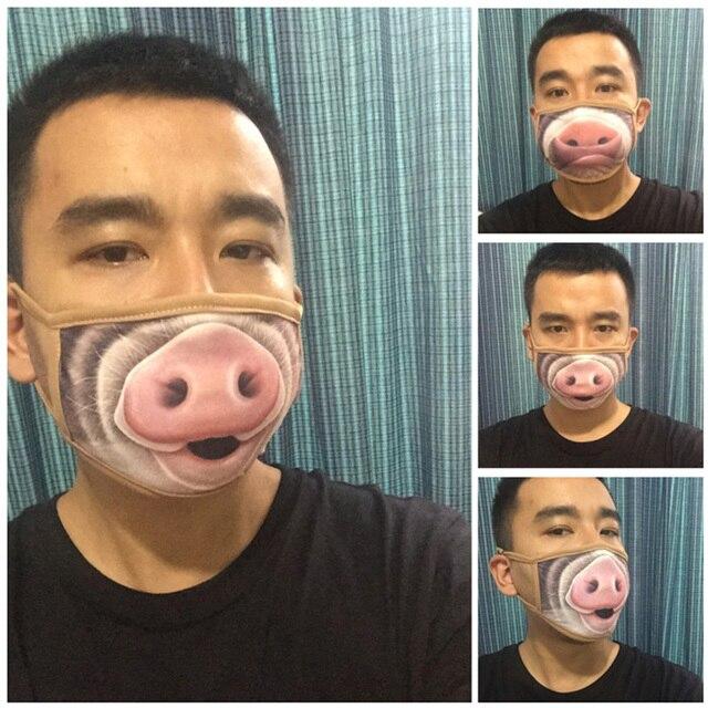 1/5/10Pcs Cartoon Cotton Dust-proof Breathable Anti Haze Protective Face Mask Anti flu Anti Virus Mask 2