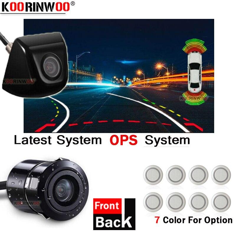 Koorinwoo для sony CCD Автомобильный парктроник система БАМПЕР датчик RCA широкоугольный объектив Автомобильная камера видео Датчик парковки s обра...
