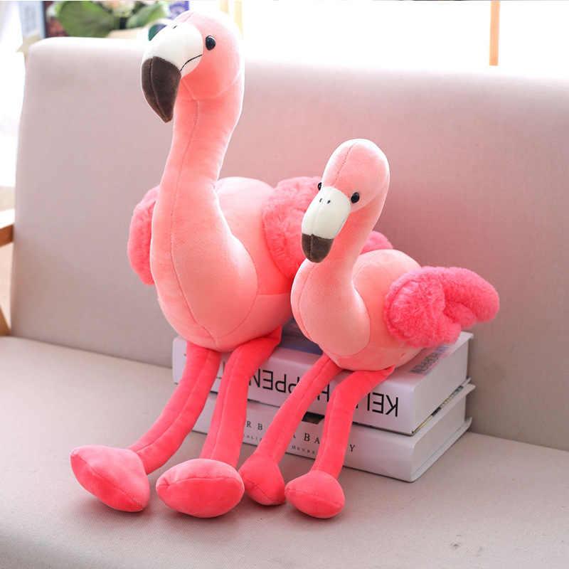 1 pc 25/38/50cm novo criativo flamingo leitura travesseiro boneca brinquedos de pelúcia animais de pelúcia acompanhar boneca presente de natal brinquedos para crianças