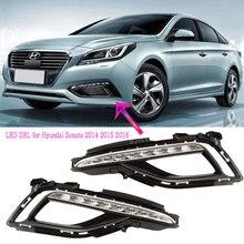 LED DRL for Hyundai Sonata 2015 2016 2017 LED 주간 주행 등 앞 범퍼 안개등 운전 라이트 헤드 라이트 안개등