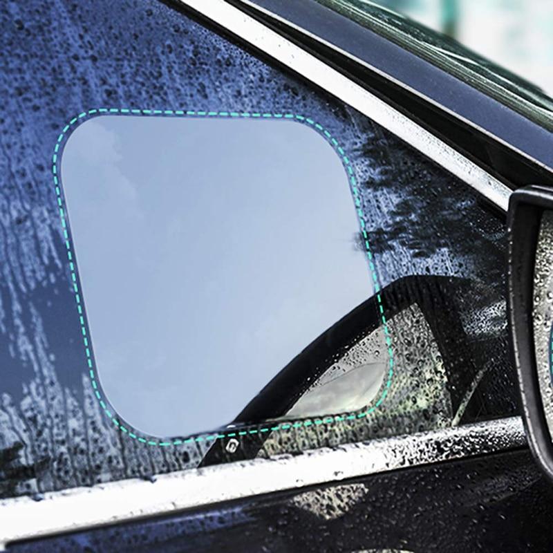2pcs Car Sideview Mirror Waterproof Fog Film Side Window Glass Film Anti Fog Reflective Mirror Transparent Protection Sticker