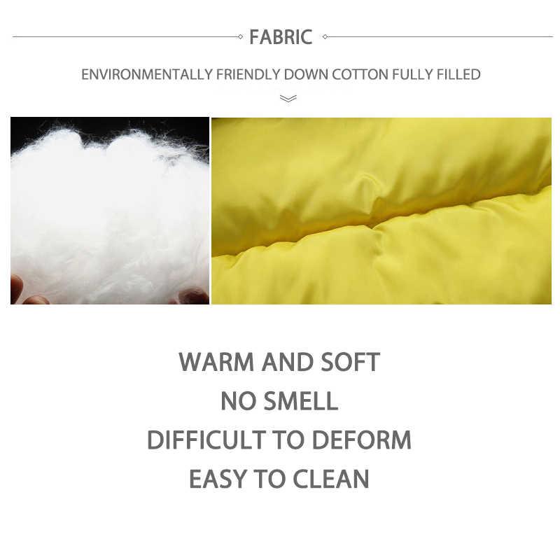 חם תינוקת בגדי חורף לילד 3-8 שנות תינוק בגדי חליפת שלג בני מעילי מוצק צבע סלעית כותנה בגדים