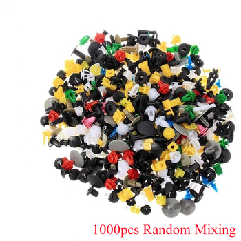 1000Pcs Mixed Car Clips Auto Fastener Vehicle Bumper Universal Retainer Fastener Rivet Door Panel Fender Clip Liner for All Car image