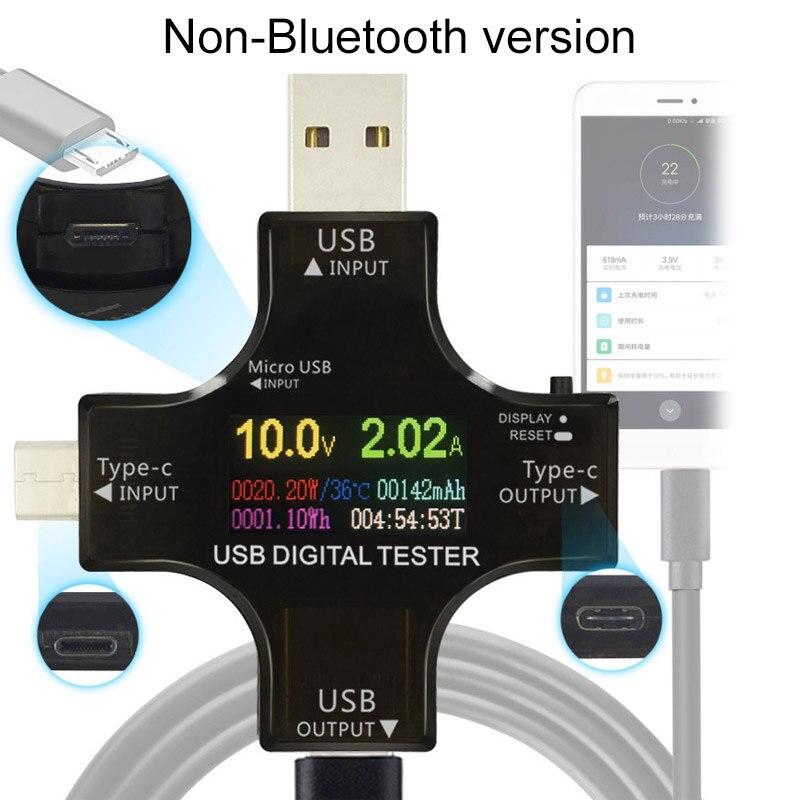 USB-Тестер TFT цветной Bluetooth Type-C PD цифровой вольтметр Цифровой Амперметр Измерение напряжения Usb