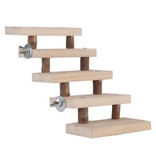 Ladder-Toys Cage-Accessories Hamster Natural-Wood Climbing-Stairs 5-Layers Gift
