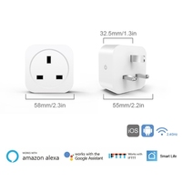 16A UK WiFi Smart Plug Socket with Power Energy Monitor APP Remote Control 23GA