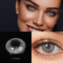 Crystal Gray Natural Contact Lenses 1 Pair Colored Lenses Super Natural Eye Color Lens Yearly Lenses For Eyes Beauty Pupilentes