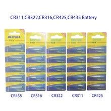 10 pz/lotto CR311 CR316 CR322 CR425 CR435 la batteria del perno del litio galilla gli accessori elettrici luminosi della batteria di Votage 3