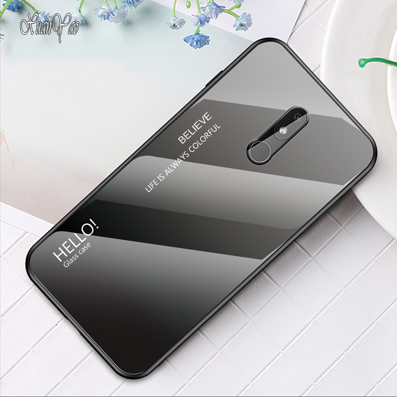 XUANYAO Phone Case For <font><b>Nokia</b></font> 1 3.1 7 <font><b>7.1</b></font> Plus Case Glass Coque For <font><b>Nokia</b></font> 3.2 4.2 X6 X7 X71 9 Case <font><b>Cover</b></font> Silicone Soft <font><b>Back</b></font> <font><b>Cover</b></font> image