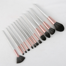 12 Pcs Makeup Brushes Set Beauty Tools Make Up Brush Sets Cosmetic Blush Concealer Lip Eyebrow Eye Shadow Fan Powder Brush Etc