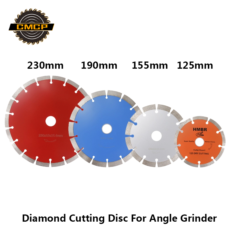 CMCP 125 155 190 230mm Diamond Cutting Disc For Angle Grinder Circular Saw Blade For Stone Marble Concrete Cutting Saw Disc