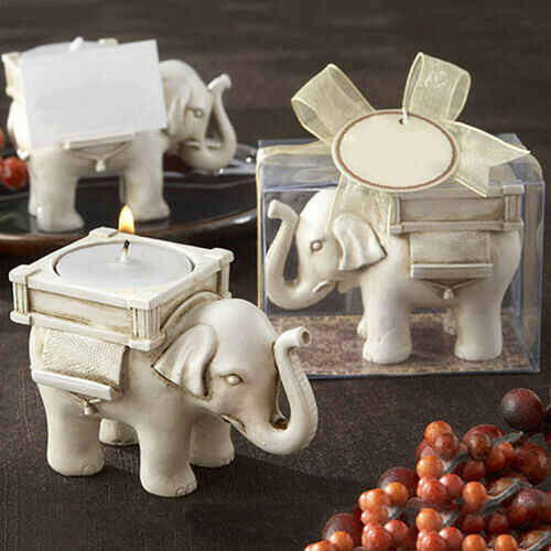 Retro Olifant Thee Licht Kaars Houder Home Decor Kandelaar Party Weding Favor Decor Modieuze