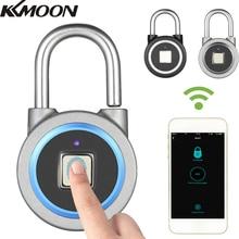 Cadeado inteligente à prova dágua, bluetooth, impressão digital, anti roubo, cadeado de segurança, trava para bagagens
