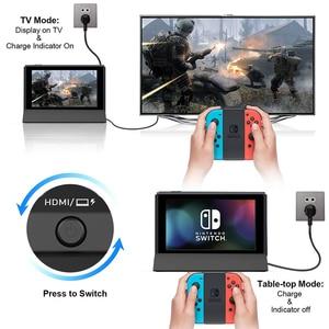 Image 5 - Vogek ניידת עבור Nintendo מתג עם סוג C כדי HDMI טלוויזיה מתאם USB 3.0 2.0 טעינת עגינה Playstand מטען