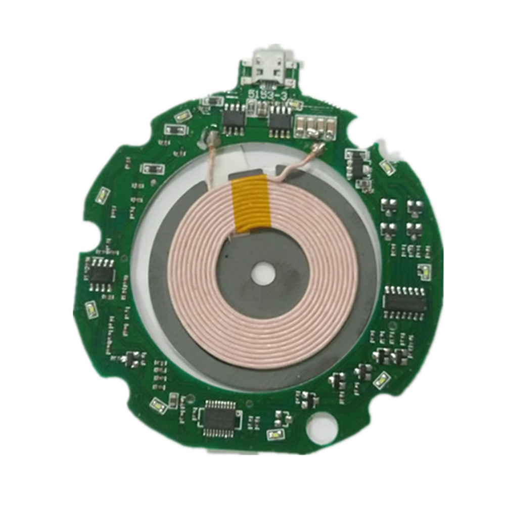 <font><b>10W</b></font> PCBA Mobile Phone Transmitter Circuit Board+Coil Fast DIY Over-temperature Qi Standard Wireless <font><b>Charger</b></font> Charging Module image