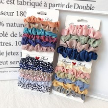 3 6 sztuk INS jedwabiu Scrunchies zestaw elastyczne gumki do włosów aksamitna Scrunchie Leopard Hairband kobiety dziewczyny gumki do włosów akcesoria do włosów tanie tanio OBXEBM CN (pochodzenie) Z szyfonu RUBBER Organza WOMEN Dla osób dorosłych Nakrycie głowy moda Plaid Hair Scrunchies