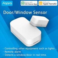 Aqara capteur de porte et de fenêtre intelligent Zigbee sans fil fonctionne avec Xiaomi Mi Home App compatible Apple HomeKit Siri alarme ouverte de porte