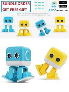 RC Robot Speaker Cubee Desk Musical-Dancing-Machine Interative Smart Bluetooth Kids WLTOYS