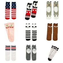 Tights Girls Tao Baby Cotton Socks For Kids Boy Childrens Long 3D Fox Cat Lovely Animal Cherry 23 Style