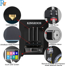 Kingroon  factory directly 3d printer no need to install print size 20*20*21cm education 3d printer with free 0.5kg pla filament art coffee drinks printer food printer chocolate printer with food ink free factory supply with ce