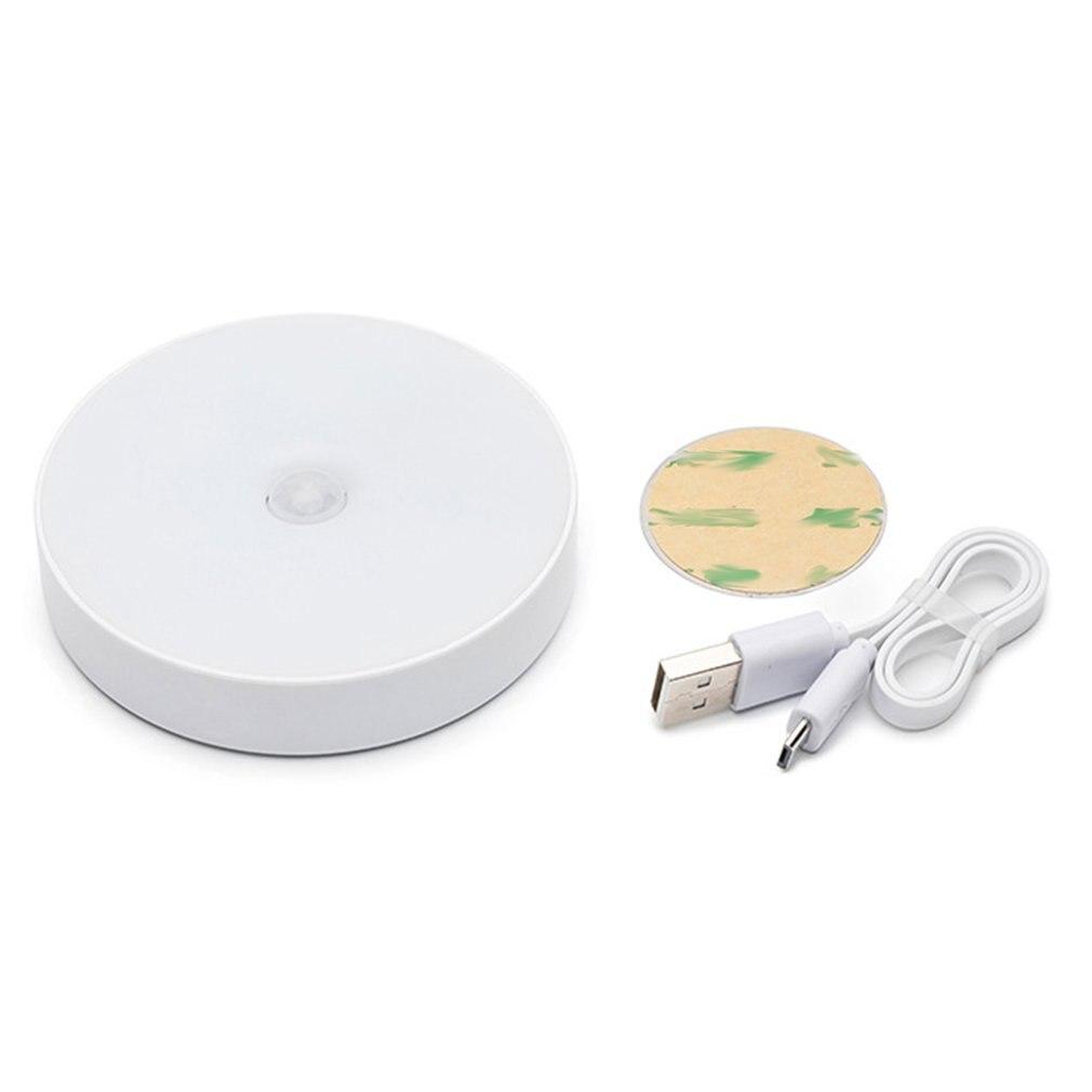 Led Human Body Sensor Night Light Usb Charging Bedside Lamp Baby Feeding Night Aisle Wardrobe Cupboard Lamp