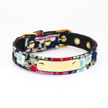 Personalized Dog Collar Cat Pet Supplies Accessories Cloth Bow Collars Adjustable Neck Strap