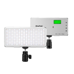 NiceFoto Portable LED Video Light Lamp Panel Fill Light 3200K-6500K CRI 96+ with Ballhead Cable for Professional Video