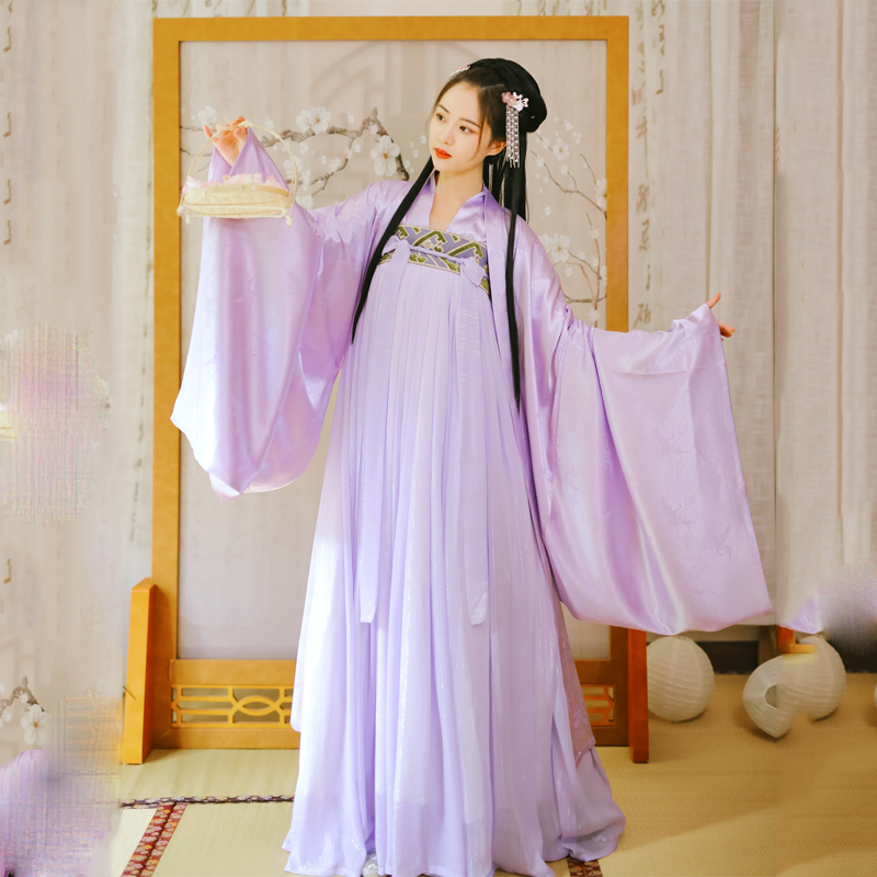 Women Hanfu Traditional Chinese Dance Costumes Folk Dance Costume National Costume  Hanfu Dress  Performance Clothing SL1723