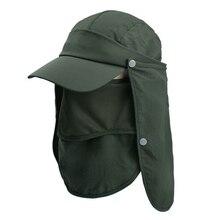 Дышащая Солнцезащитная шляпа для рыбалки со съемной шеей с откидной крышкой для лица, кепки для мужчин и женщин, походная шляпа для защиты от солнца