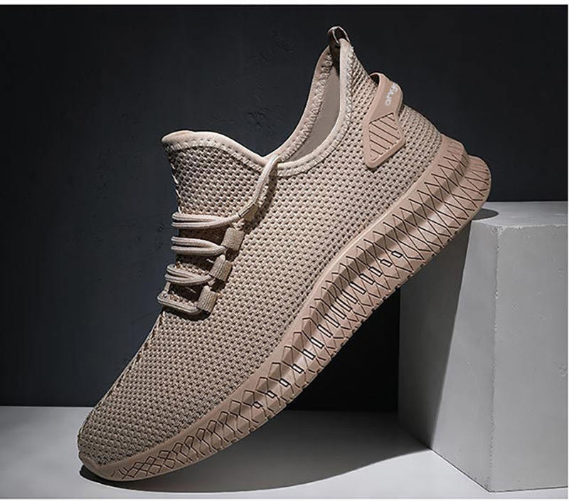 H8196aa7e20b64b7e98bc8463d4956d131 - Men Sneakers Black Mesh Breathable Running Sport Shoes Male Lace Up Non-slip Men Low Athletic Sneakers Casual Men Shoes