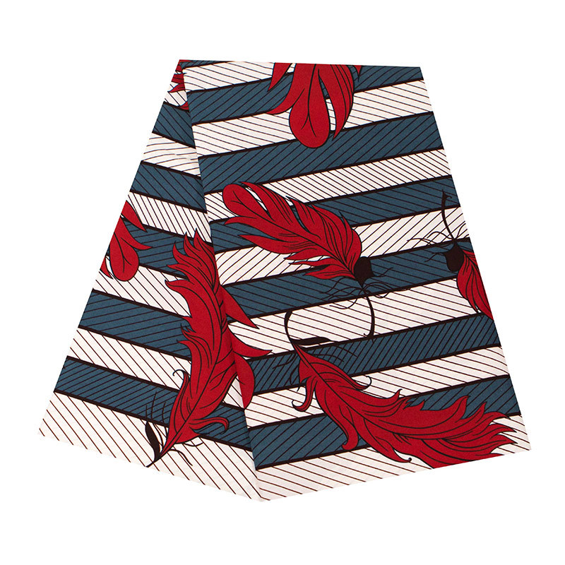 Geometric Pattern Stripe African Ankara Wax Fabric 6 Yards African Wax Polyester Wax Fabric Fashion African Wax Print Fabric