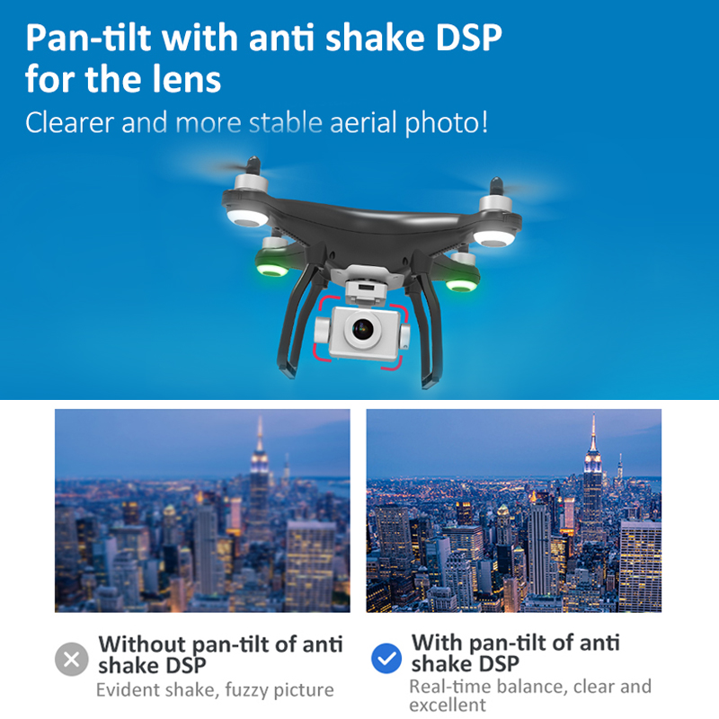 Clearance SaleRC Quadcopter Drones Camera Gimbal-Stabilizer Flight Profissional Brushless Motor X35