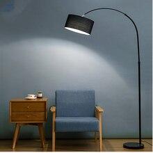 Напольная Лампа для гостиной, современная простая прикроватная тумбочка для спальни, для исследования в скандинавском стиле, креативная комнатная Напольная Лампа, льняной абажур