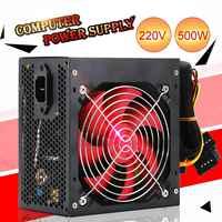 Alimentación de escritorio 400 W/500 W Conmutación de energía silenciosa 12V ATX BTC fuente de alimentación SATA 20PIN + 4PIN fuente de alimentación para Intel AMD PC